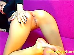 LadyHotLove gives herself hard anal on cam stickam
